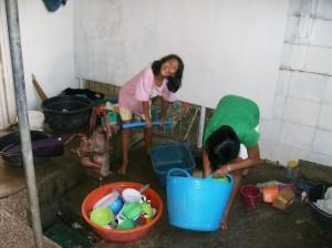 Judy Ann Pumping Water